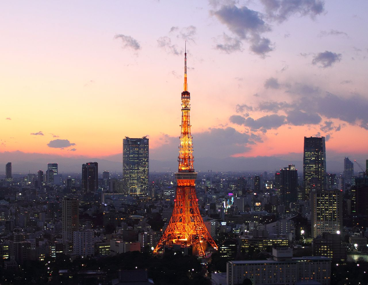 Tokyo Tower Afterglow
